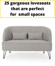 Grey sofa with hairpin legs