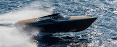 The Aston Martin powerboat made its world debut at the Monaco Yacht Show, marking the luxury British brand's entry into the nautical world. The new day-cruiser is offered in two versions with the expected to reach speeds of 50 knots. Aston Martin Sports Car, New Aston Martin, Bugatti, Toyota, Luxury Yachts, Luxury Cars, Porsche 911, Mercedes Benz, Jet Privé
