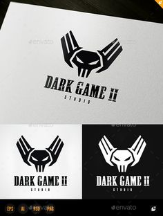 Dark Game II — Photoshop PSD #identity #games • Available here → https://graphicriver.net/item/dark-game-ii/11004925?ref=pxcr