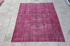 Over-dyed Vintage Rug 7.0 X 10.4 FT ( 215 X 316 CM ) - Area Rugs