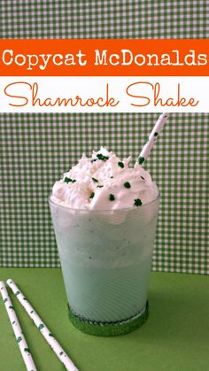 "If you are like me, you not so patiently wait for the Shamrock shake every year. Now you don't have to! This copycat shamrock shake recipe tastes just like the ""real"" thing and is so much more budget friendly!"