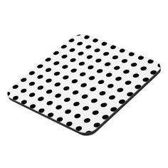 Modern white and black polka dots coaster - black and white gifts unique special b&w style