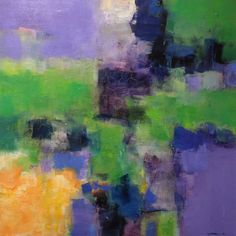 abstract oil painting by Hiroshi Matsumoto; artist's website