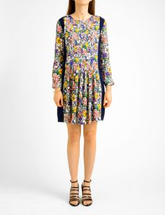 Band of Outsiders painted flower georgette dress