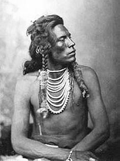 Curly or Curley (Ashishishe) (c1856-1923). Crow Indian (Montana). Active warrior against Sioux enemies. Scout for the U.S. Army. - Photo Gregson Bros., c1879. - (B/W copy)