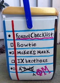 Frat Formal Checklist