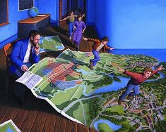 Illusion Art : Rob Gonsalves is an artist from Toronto, Canada. His art works are mixing of creativity and optical illusion. Optical Illusion Paintings, Amazing Optical Illusions, Magic Illusions, Canadian Painters, Canadian Artists, Robert Gonsalves, Jim Warren, Rene Magritte, Magic Realism