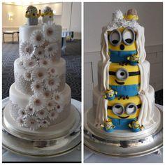 10 Unbelievable Facts About Minion Wedding Minion Torte, Cake Minion, Litter Box Cake, Despicable Me Cake, Southern Wedding Cakes, Funny Wedding Cake Toppers, Wedding Cake Photos, Unbelievable Facts, Engagement Cakes