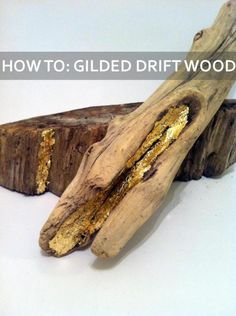 Gilded Driftwood DIY-- read the full how-to on our blog @ blog.libbystory.com