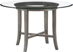 """Halo Grey Dining Table with 48"""" Glass Top  