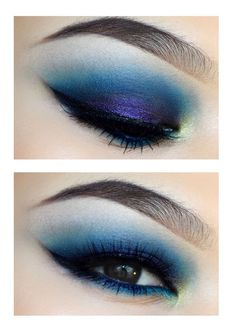 Otro encantador maquillaje azul perfecto para cada ocacion.
