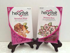 Heartfelt Creations Die+Stamp Botanical Wings+Botanical Rose Stamp, HCD758+3651  | eBay