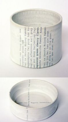 Ceramics + typography? Very cool.  by the talented Karin Eriksson. Uppercase Journal.