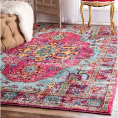 Features:  -Style: Vintage.  -Made in Turkey.  Technique: -Machine woven.  Primary Color: -Multi-Colored.  Material: -Synthetic.  Product Care: -Professional cleaning recommended.  Product Type: -Area