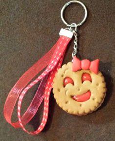 Porte Clés Biscuit BN' fourré à la fraise porte-clé & bijoux (photo 1)