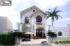 Mẫu thiết kế nhà biệt thự 2 tầng kiểu tân cổ điển đẹp BT1530