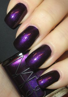 Love the shimmery purple nail polish shade. Love the shimmery purple nail polish shade. Nars Nail Polish, Purple Nail Polish, Nail Polish Colors, Nail Colors For Pale Skin, Toe Nail Color, Fall Nail Colors, Vibrant Colors, Cute Nails, Pretty Nails