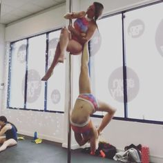 "49 Likes, 2 Comments - Beckyboo1603 and Becksbecks36 (@doublebecker_pole) on Instagram: ""Tip for this move, try to break your partners foot using your elbo. 😂 #poledoubles #doublespole…"""