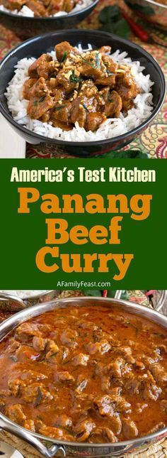 America's Test Kitchen Panang Beef Curry Recipe