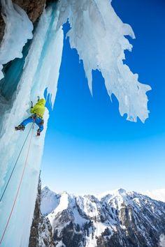 Ice climbing at Breitwangflue Dan Patitucci @patitucciphoto