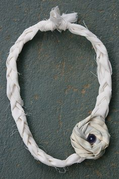Clay In His Hands: DIY Braided Fabric Necklace