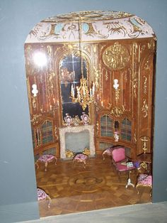 Arikalex Miniature Museum in Berlin--- a room box from Sans Souci palace miniature by Mulvany and Rogers