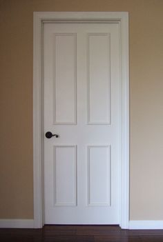 Add molding to flat hollow doors for a panel look super for Baseboards doors and more