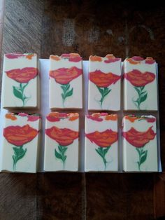 Roses - cold-process soap