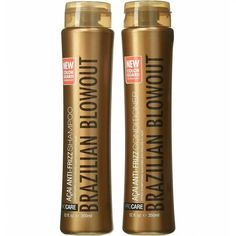 Brazilian Blowout Shampoo & Conditioner Set. Anti frizz Shampoo and Conditioner sulfate-free formula effectively remove impurities, protect color and preserve your treatment. Available from Hair By Jammie, Jacksonville Hair Stylist. #cleanbeautyproducts #haircareproducts Diy Haircare, Natural Haircare, Anti Frizz Shampoo, Shampoo And Conditioner, Tips For Dry Hair, Blowout Hair, Brazilian Blowout, Organic Cleaning Products, Clean Makeup