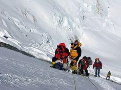 near the yellow band on Lhotse Face