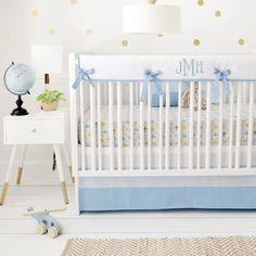 Blue Woodland Nursery Bedding Set Born Wild In For Baby Boys