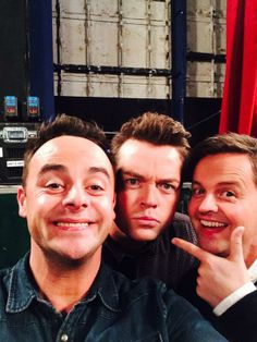 Ant & Dec with Steven M. at the auditions.