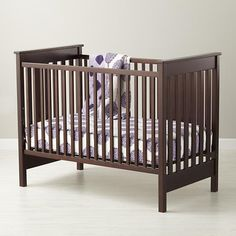 Baby Cribs: Baby Espresso Solid American Maple Crib in Cribs & Bassinets | The Land of Nod