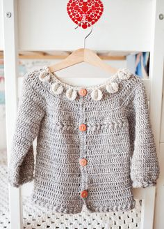 Instant download - Crochet Cardigan PATTERN (pdf file) - Petal Collar Cardigan