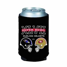 2012 - 2013 Super Bowl XLVII 47 San Francisco 49ers vs Baltimore Ravens Dueling Helmets Match-Up NFL Party Football Collapsible Can Holder Koozie Cooler by Kolder. $5.99. Fully Collapsible. Watch the big game with this Match-Up Koozie!