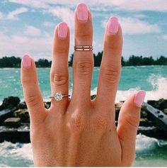 pale pink bridal mani