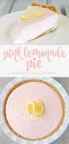 Recipe for simple Pink Lemonade Pie. So simple, so tasty. A perfect summer pie recipe! Recipe for simple Pink Lemonade Pie. So simple, so tasty. A perfect summer pie recipe! Pink Lemonade Pie, Lemonade Cake Recipe, Pink Lemonade Recipes, Pink Lemonade Cupcakes, Homemade Lemonade Recipes, Strawberry Lemonade Pie Recipe, Pink Pie, Homemade Pies, Tea Sandwiches