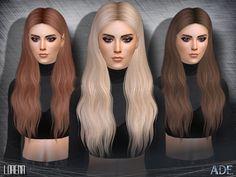 Lorena hair by Ade_Darma at TSR • Sims 4 Updates