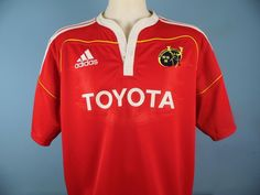 Authentic Munster Home Rugby Shirt XXL 2XL Toyota Adidas Red