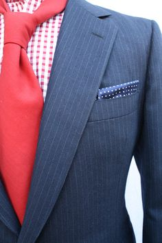 Mens British Inspired Vintage Wool Pinstriped by ViVifyVintage