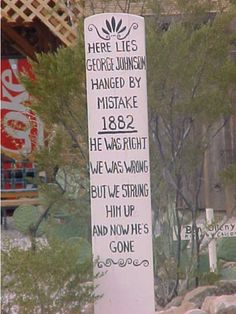 Tombstone, AZ - poor old George Johnson