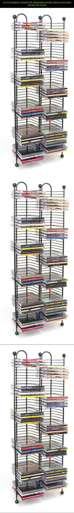 CD DVD Storage Tower Rack Organizer 100 Disc Xbox Playstation Movies CDs Stand #fpv #tech #kit #parts #racing #gadgets #products #plans #technology #storage #camera #drone #shopping #xbox