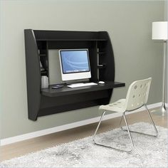 Home Office Furniture, This Home Office Desk with Storage Is The Perfect Computer Desk Space Saver Guaranteed. This Desk Is Ideal For Any Room In Your Home, Easy Install with Prepac& Hanging Rail System.