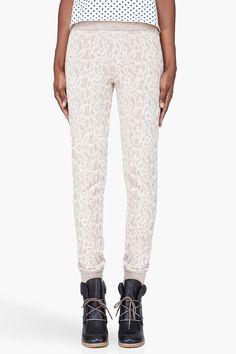 A.P.C. Taupe Alpaca Knit Jogging Pants