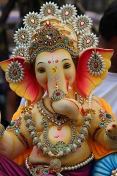 Make this Ganesha Chathurthi 2020 special with rituals and ceremonies. Lord Ganesha is a powerful god that removes Hurdles, grants Wealth, Knowledge & Wisdom. Jai Ganesh, Ganesh Lord, Ganesh Idol, Ganesh Statue, Shree Ganesh, Ganesha Art, Ganesh Chaturthi Messages, Ganesh Chaturthi Decoration, Happy Ganesh Chaturthi Images