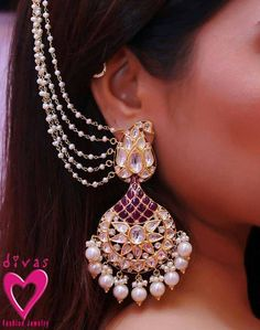 1GRAM : CZ/AD : ANTIQUE JEWELLERY: BRIDAL ACCESSORIES.  # TRADITIONAL: BRIDAL EARRING