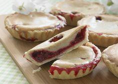 Små+hindbærtærter