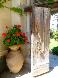 #pottery #planters #pots #containers rustic entry