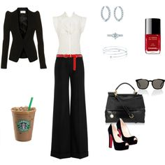 work wear - and I love how the starbucks is included! Most important part! haha