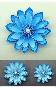 Adorable Paper Flowers How to make Beautiful Paper Flower DIY Paper Crafts How To Make Paper Flowers, Paper Flowers Craft, Large Paper Flowers, Paper Flower Backdrop, Origami Flowers, Paper Roses, Flower Crafts, Diy Flowers, Flower Diy